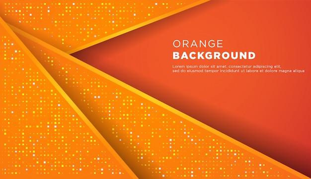 キラキラと形抽象的なオレンジ色の背景