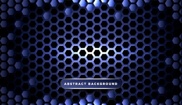 抽象的なメタリックブルーの幾何学的なフレームスポーツバックグラウンド