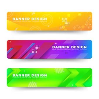 Вектор абстрактный баннер дизайн веб-шаблона красочные яркие
