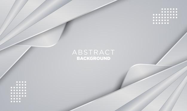 光沢のある滑らかな色と金属鋼のグラデーションで抽象的な形状レイヤーシルバー箔テクスチャ