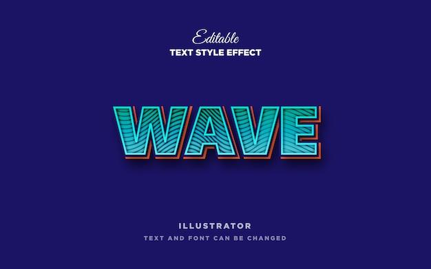 Эффект стиля текста волны