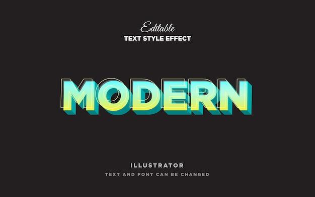 Современный легкий текстовый эффект