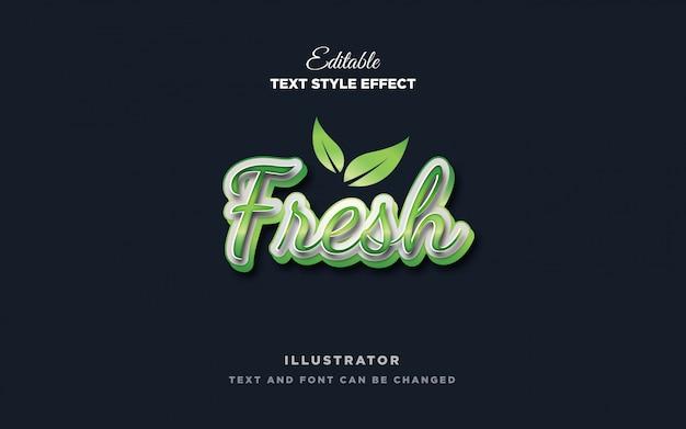 Зеленый свежий текстовый эффект