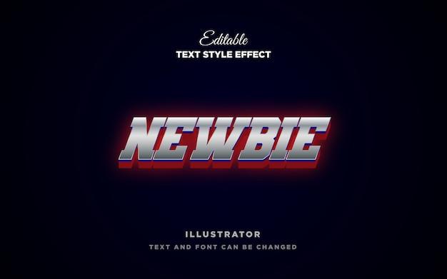 Серебристо-красный эффект стиля текста