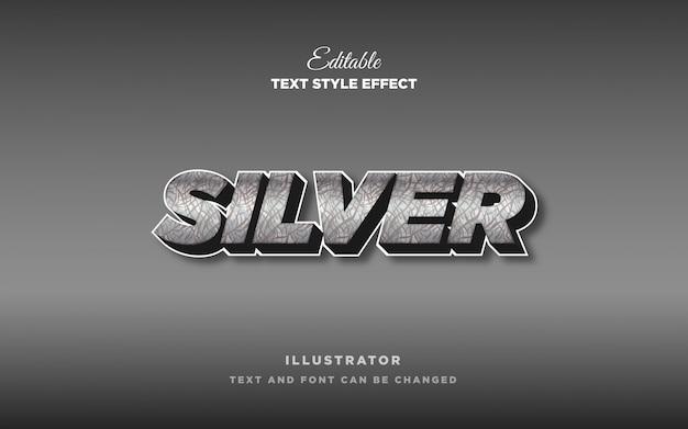 Серебряный металлический эффект стиля текста