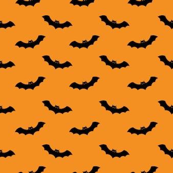 バットシームレスパターン。ハロウィンパーティーの概念。