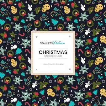 クリスマス冬のシームレスパターン