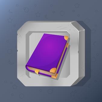 Икона игры волшебной книги в мультяшном стиле.