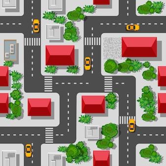 都市のシームレスなパターン