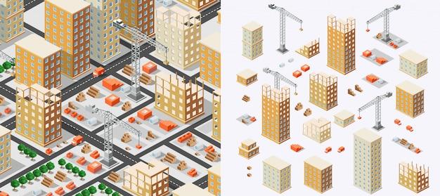 産業建設アイソメトリクス