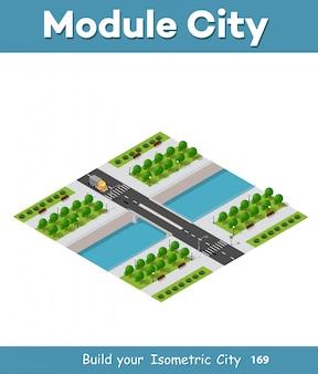 現代都市の等角ベクトル図