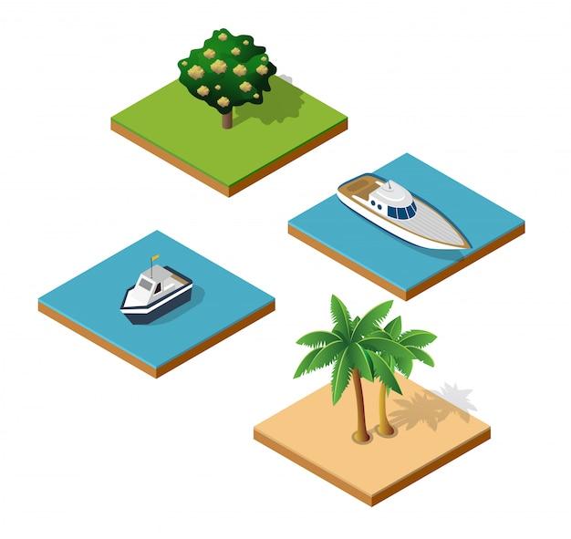 島のトップビュー