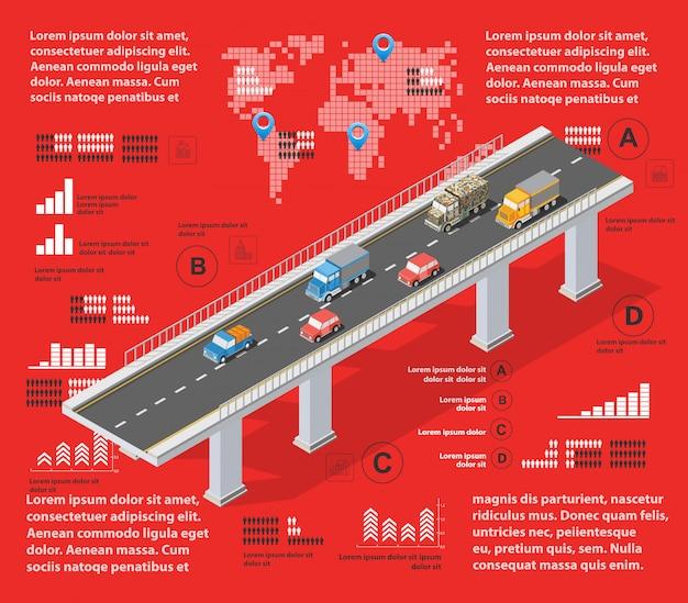 Красная иллюстрация инфографика