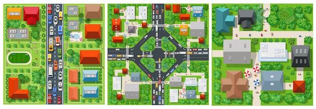 道路の平面図輸送