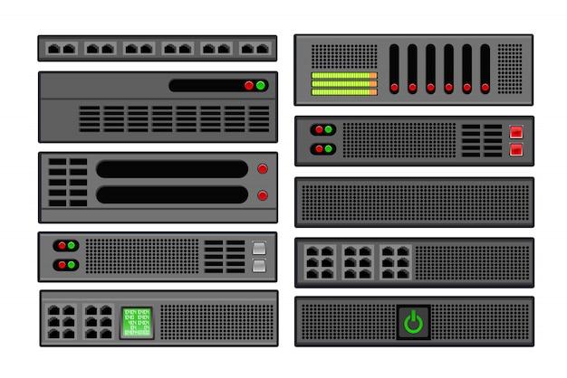 コンピューターサーバーのセット