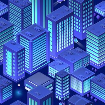 Изометрический фон город городской