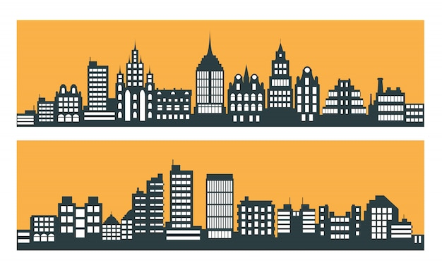 近代的な街の高層ビル