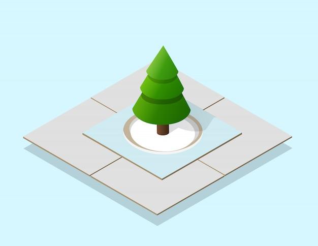 等尺性のクリスマスツリー