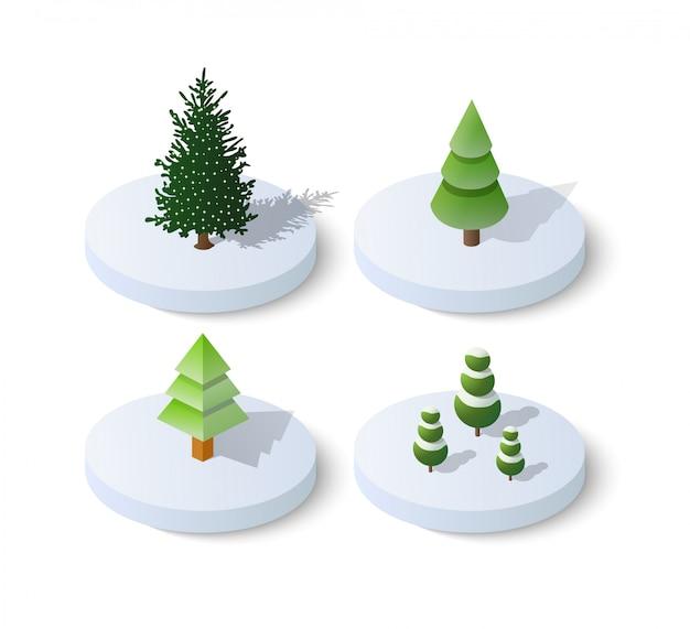 等尺性のクリスマスツリーのトウヒ