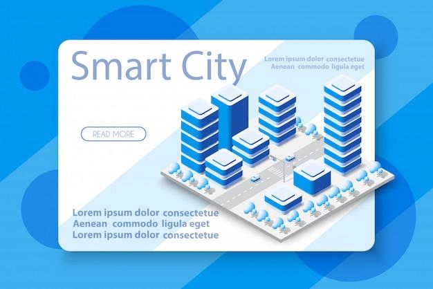 高層ビルと等尺性都市