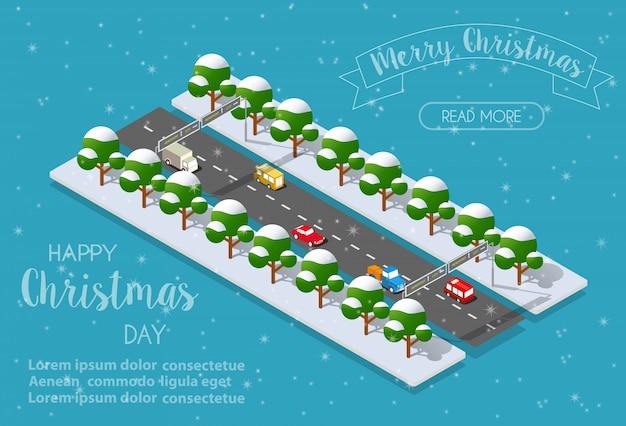 Рождественский город изометрии