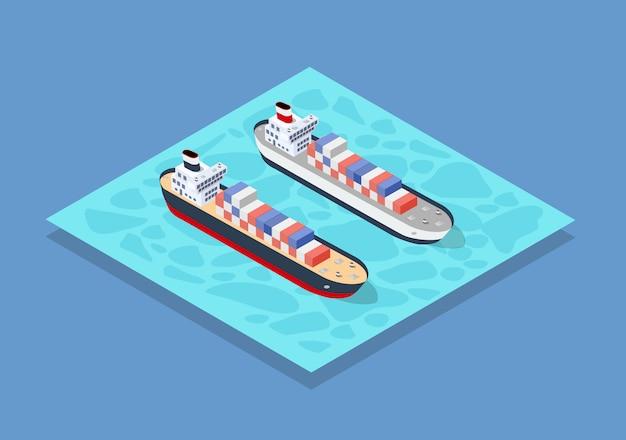 Изометрические корабельные грузы