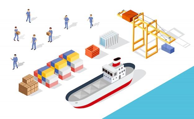 等尺性港貨物船