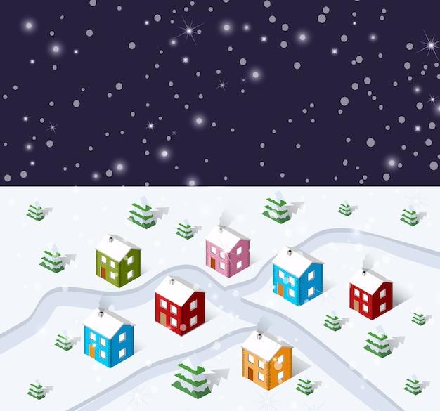 クリスマスの冬の都市