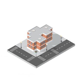 Вектор изометрии городской архитектуры