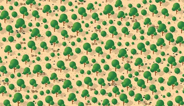 木とのシームレスなパターン