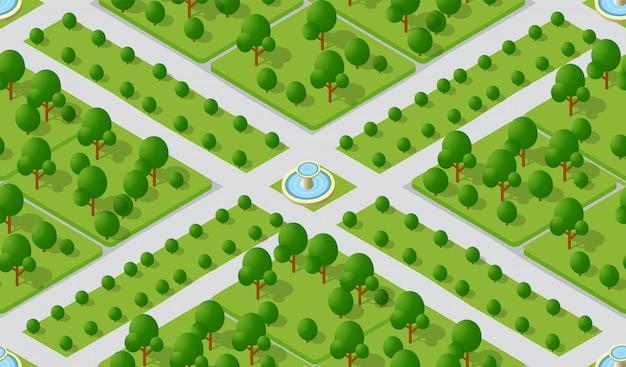 シームレスな都市計画パターン