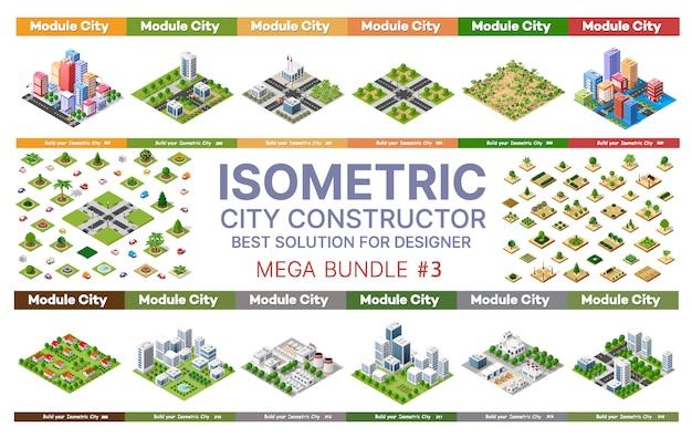 Изометрический набор блоков модуля областей