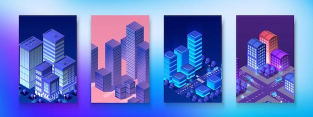 Изометрический набор модуль город