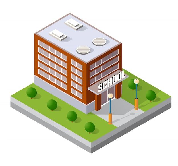 Школа изометрического здания учебного образования