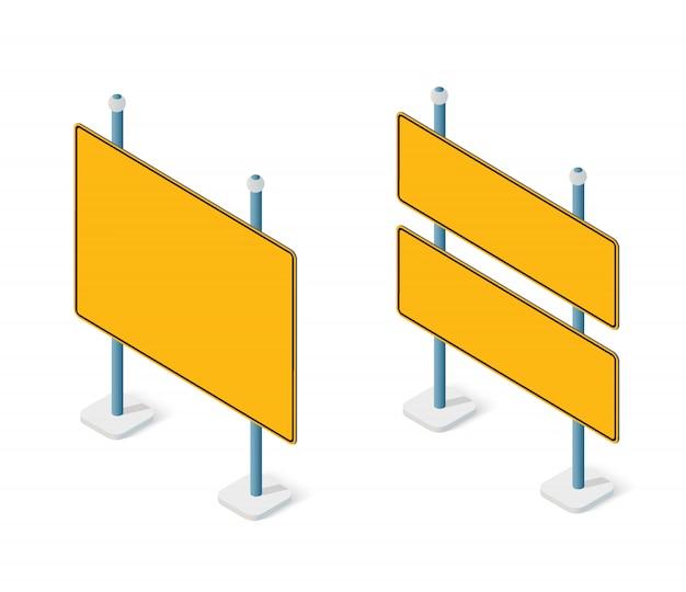 Дорожные знаки изометрической набор уличный объект для шоссе