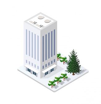 雪に覆われた冬のクリスマス風景