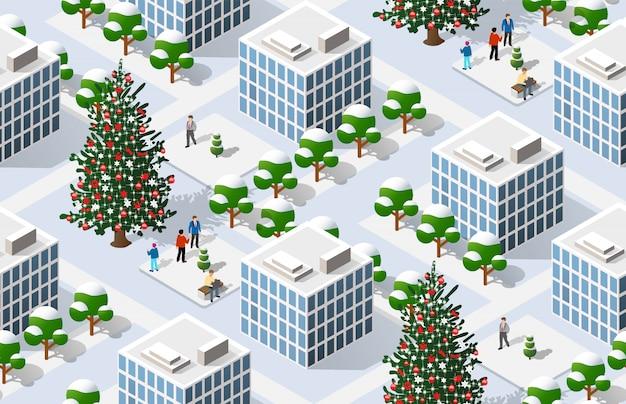 クリスマスの等尺性都市