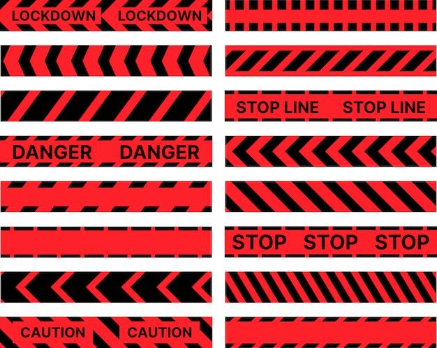 Ограничительная стоп-маркировка ленты узором бесшовные линии