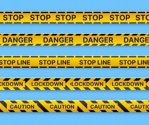 Ограничительная остановка маркировки ленты линии до забора