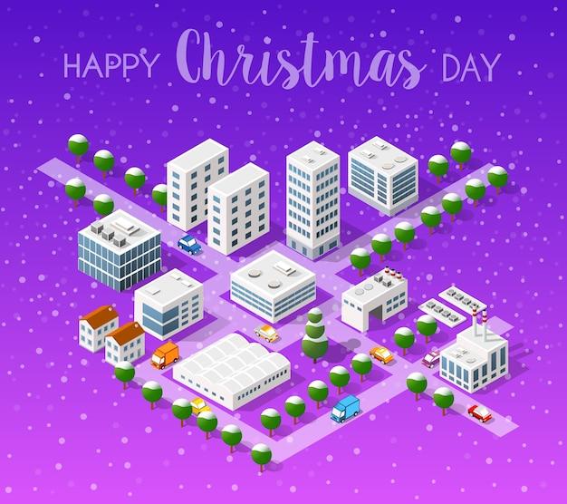冬のクリスマスの風景