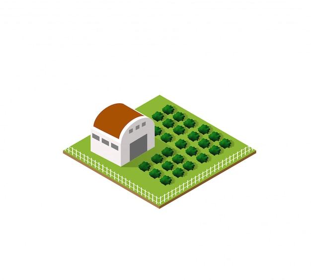 アイソメの農村農場