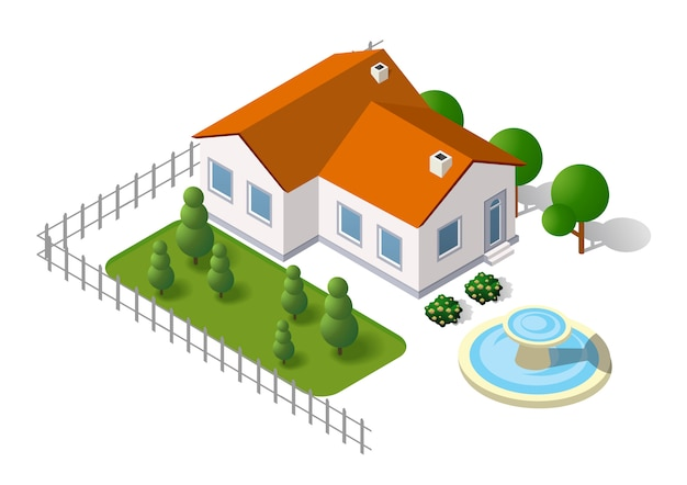 農村の風景の要素