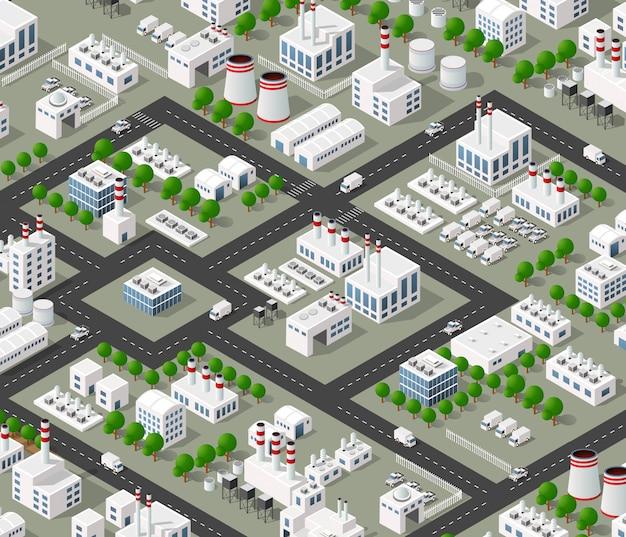 都市のトップビュー