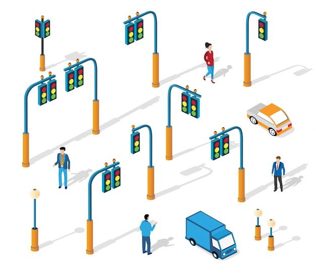 都市の等尺性交通の集合