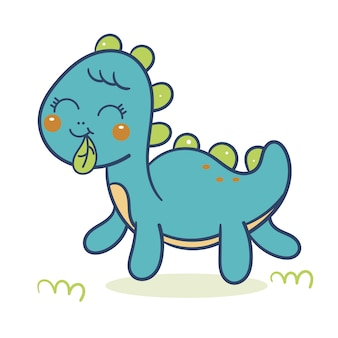 かわいい恐竜ベクトル