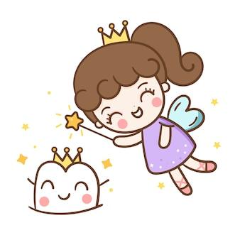 歯の妖精の笑顔