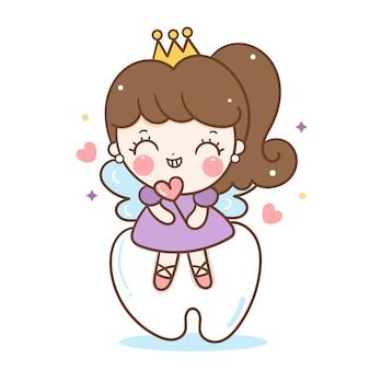かわいい妖精歯笑顔角度漫画
