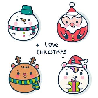 新年のクリスマスボールの装飾のパック