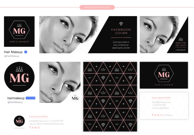 美容会社のイニシャルロゴ