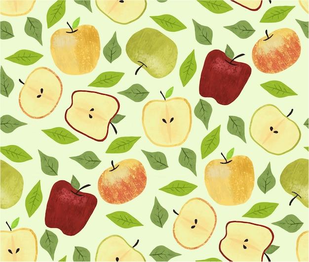 りんごのシームレスパターン